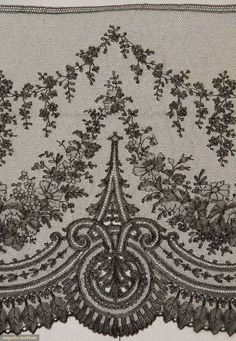 North America's auction house for Couture & Vintage Fashion. Couture Embroidery, Lace Embroidery, Machine Embroidery, Lace Ribbon, Lace Fabric, Antique Lace, Vintage Lace, Border Embroidery Designs, Google Art