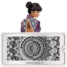 Mandala Nail Art Design 01