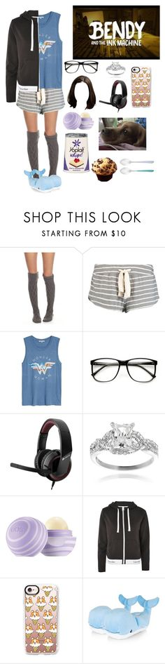 """""""+Playing Bendy and the Ink Machine+"""" by blissfull-darkness ❤ liked on Polyvore featuring Free People, Eberjey, Junk Food Clothing, ZeroUV, Journee Collection, Calvin Klein, Casetify and Amefa"""