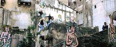 Interessante installazione dell'artista lentinese nel suggestivo vicolo Sparta nell'ambito del progetto di rigenerazione urbana dello storico quartiere Badi