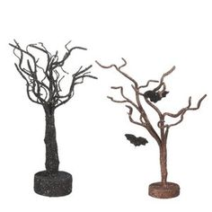 Midwest CBK  Halloween Whimsies Glittered Tree - Set of 2