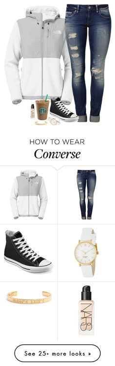 """""""Untitled #813"""" by mads-thompson on Polyvore featuring moda, The North Face, Mavi, Converse, Kate Spade, NARS Cosmetics i Coordinates Collection"""