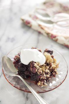 Paula Deen Sweet Black Cherry Crisp