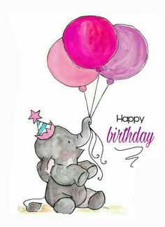 Elefante to drawing elephant Art And Illustration, Illustration Pictures, Art Illustrations, Watercolor Illustration, Animal Drawings, Cute Drawings, Birthday Wishes, Birthday Cards, Birthday Sayings