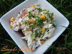 Smaki Edyty: Sałatka z gotowanego kurczaka