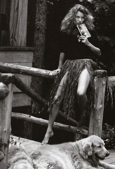 "kate moss photographed by bruce weber in ""a letter to true"", a vogue italia nov. 2003 supplement"