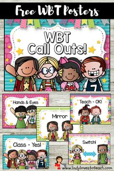 Back to school and classroom management is so easy when you use WBT. Here are free whole brain teaching poster call outs for your class. Help your students with their behavior :)