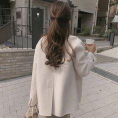 Ulzzang Fashion, Ulzzang Girl, Korean Fashion, Korean Ulzzang, Hair Inspo, Hair Inspiration, Aesthetic Hair, Beige Aesthetic, Dream Hair