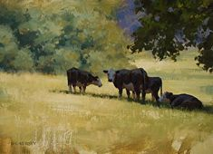 A Private Conversation by Laurie Kersey Oil ~ 12 x 16
