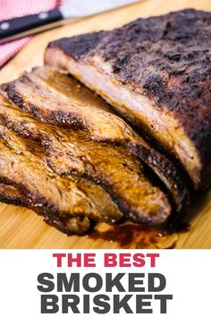 This Smoked Brisket recipe is incredibly flavorful and so moist and tender. It's one recipe that is devoured every time I make it. Braai Recipes, Grilled Fish Recipes, Beef Brisket Recipes, Smoked Meat Recipes, Barbecue Recipes, Bbq, Breaded Fish Recipe, Beef Tenderloin Roast, Roast Beef