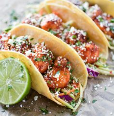 Oven Fried Korean Chicken Tacos-tried and love. Modified a bit so they weren't so spicy.