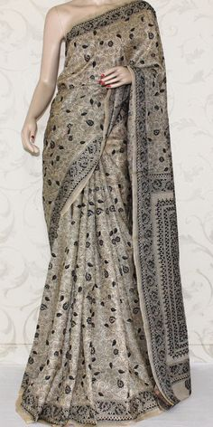 ... Kantha Work Pure Silk Saree 12966. Roll over image to zoom in ...