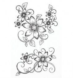 heartfelt stamp flowers