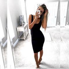 vestido-tubinho-preto-justo-midi-regata-comprar-pretinho-básico