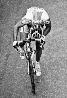 On considérera le cycliste et non la personnalité, dommage que la photo fut de bonne qualité et que je dus la pinter