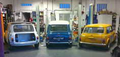 mini garage Classic Mini, Classic Cars, Automobile, Bmw, Mode Of Transport, Mini Cooper S, Fiat 500, Go Kart, Dream Garage