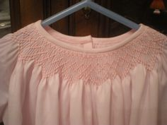 smocked baby dress daygown infant newborn pink by SmockedBeauties, $40.00