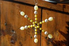Tutorial for making beaded snowflakes out of vintage costume jewelery