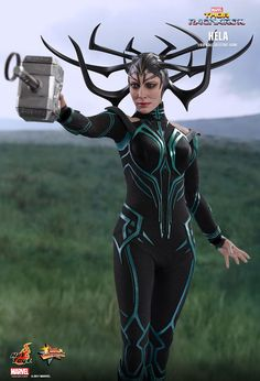 The Hela Sixth Scale Collectible Figure by Hot Toys from Thor Ragnarok is now available at Planet Action Figures. Superhero Villains, Marvel Villains, Marvel Characters, Marvel Movies, Thor Ragnarok Hela, Hela Thor, Ragnarok Movie, Marvel Women, Marvel Girls