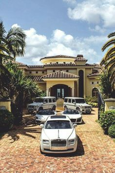 Tropical mansion, Benz, Audi, Lamborgihni, Rolls Royce... too much luxury!