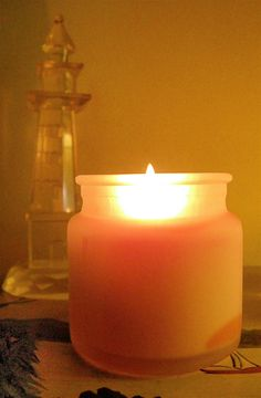 This is how our Frosted Keepsake Jar Candle burns!  It will burn cleanly - with no black soot - and completely!