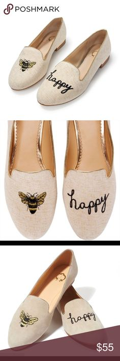 """C. Wonder """"Bee Happy"""" Embroidered Suede Loafers C. Wonder """"Bee Happy"""" Embroidered Suede Loafers - Celeste. Size 9 Shoes Flats & Loafers"""