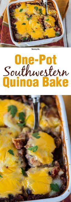 One-Pot Southwestern Quinoa Bake! #SkinnyMs #Superfoods