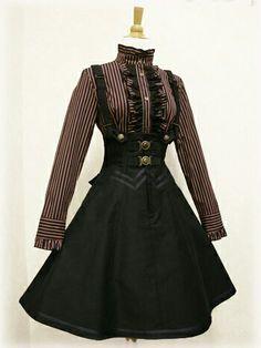 Designer Clothes, Shoes & Bags for Women Steampunk Fashion, Victorian Fashion, Gothic Fashion, Steampunk Dress, Mode Outfits, Dress Outfits, Fashion Dresses, Pretty Dresses, Beautiful Dresses
