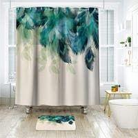 Peacock Shower Curtain, Luxury Shower Curtain, Colorful Shower Curtain, Fabric Shower Curtains, Panel Curtains, Extra Long Shower Curtain, Home Decor Sets, Curtain Material, Bathroom Colors