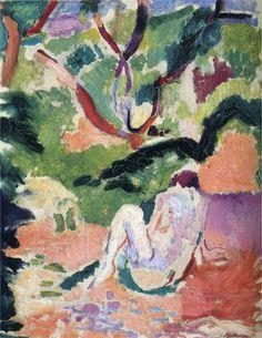 Henri Matisse. Desnudo en un bosque, 1906. Óleo sobre tabla. Brooklyn Museum, N.Y. WikiPaintings.org