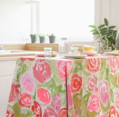 This tablecloth is so pretty you may not want to eat on it.
