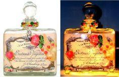 #10 Chic Roses Perfume Bottle Nightlight ( Night Light ) - Roses And Teacups