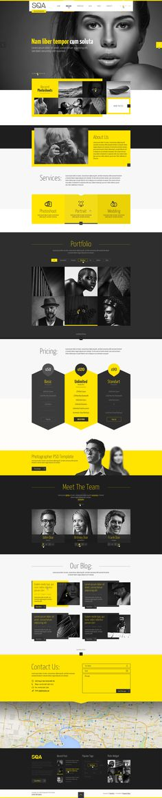 Webdesign | Yellow | SQA — PSD Template