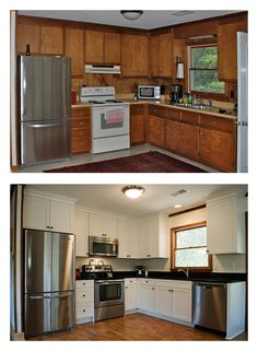 Before & After Kitchen Remodel by Cozy Kitchens, OBX, NC. Photography by ©Elizabeth Kiourtzidis - milepostportraits.com