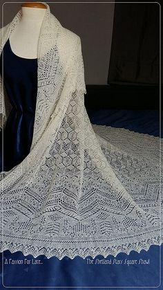 Ravelry: The Shetland Stars Square Shawl knitting pattern by A Passion For Lace... — €10.00 EUR