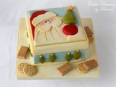 Christmas Cookie Tin Cake by CakeHeaven by Marlene