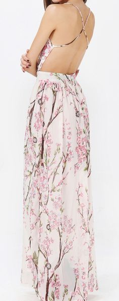 Cherry blossom maxi ((would TOTALLY wear this if it had a back))