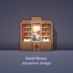 Even your pet fishes need a home, here are five aquarium designs ranging from big to small to give your little fishy friends a place to… Minecraft Farmen, Minecraft Kunst, Construction Minecraft, Cute Minecraft Houses, Minecraft Banner Designs, Minecraft Medieval, Amazing Minecraft, Minecraft Decorations, Minecraft House Designs