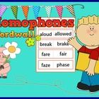 Homophones Word wall  There are 44 pairs of homophones    Just print, cut and laminate.  Please give me a very kind comment for improving, I would ...