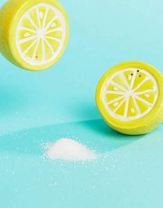 Buy Sunnylife Lemon Salt & Pepper Shakers at ASOS. Get the latest trends with ASOS now. Salt Pepper Shakers, Salt And Pepper, Lemon Salt, Sunnylife, Something New, Asos, Outdoor Decor, Random, Salt N Pepper