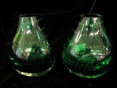 "$50   Feb.2007.  Advertised as, ""Italian Art Glass Pair Of Vases"""