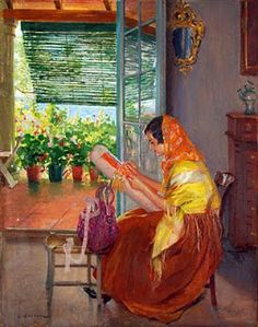 Beautiful picture of making lace