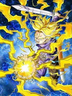 [Future-Carving Power] Super Saiyan Teen Trunks/Dragon Ball Z: Dokkan Battle Dragon Ball Z, 7th Dragon, Trunks Super Saiyan, Trunks And Mai, Pokemon Fairy, Son Goku, Anime, King Kong, Fantastic Art
