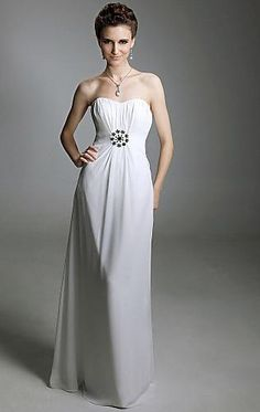 2014 Long White Tailor Made Evening Prom Dress (LFNAL0414) cheap online-MarieProm UK