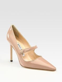 Manolo Blahnik Campari Patent Leather Mary Jane Pumps  -- want all 3 colors!!!!