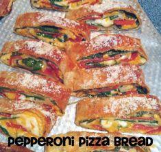 Pepperoni Pizza Bread & Super Bowl Recipe Round-Up | 5DollarDinners.com