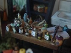 How To Make Miniature Potion Bottles For Your Dollhouse Witch or Wizard