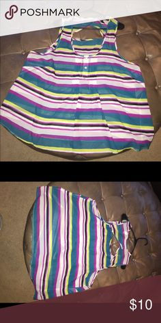 Torrid sz3 pink/purple turquoise white green tank Super cute tank tops with bright colors size 3 torrid Tops Tank Tops