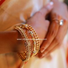 Stack up on the most trending everyday wear diamond bangles made in 18 karat gold. The 3 beautiful designs of daily wear diamond bangles are captivating. Plain Gold Bangles, Gold Bangles Design, Gold Jewellery Design, Gold Jewelry, Indian Gold Bangles, Ruby Bangles, Gold Necklaces, Ruby Necklace Designs, Indian Jewelry Sets