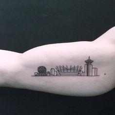 118 Tatuagens de arquitetura impressionantes,chinatown_stropky. Via Instagram